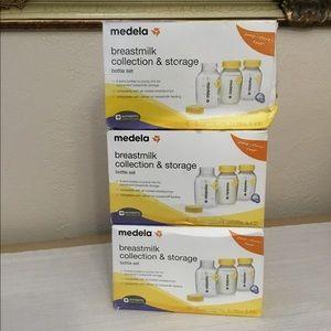 Medela Breast milk collection bottles lot of 3 NEW